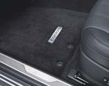 Carpeted Floor Mats - Black, Front and Back Set