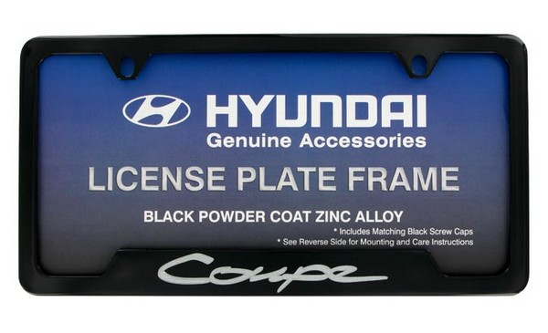 License Plate Frame - Black Powder Coating